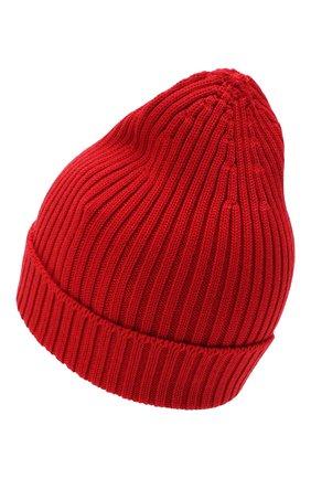 Мужская шерстяная шапка PRADA красного цвета, арт. UMD429-U97-F0011-192 | Фото 2