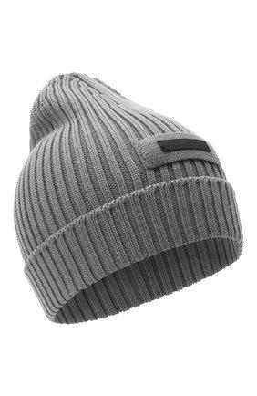 Мужская шерстяная шапка PRADA серого цвета, арт. UMD429-U97-F0031-192 | Фото 1