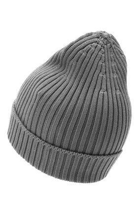 Мужская шерстяная шапка PRADA серого цвета, арт. UMD429-U97-F0031-192 | Фото 2