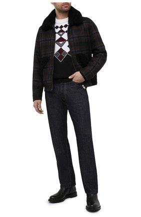 Мужские джинсы PRADA синего цвета, арт. GEP318-1WQV-F0008-202 | Фото 2