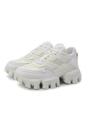 Женские комбинированные кроссовки cloudbust thunder PRADA белого цвета, арт. 1E819L-3KR2-F0009-050 | Фото 1