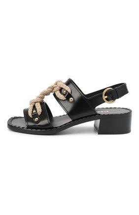 Женские кожаные босоножки PRADA черного цвета, арт. 1X190M-P39-F0002-A040 | Фото 2