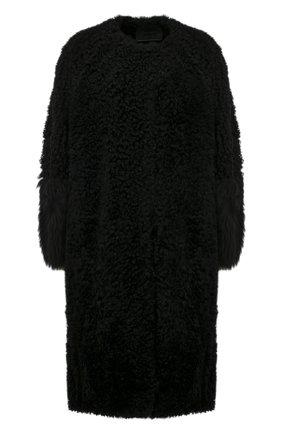 Женская шуба из овчины PRADA черного цвета, арт. 56878-1UV5-F0002 | Фото 1