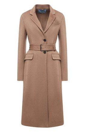 Женское кашемировое пальто PRADA бежевого цвета, арт. P638NH-1XON-F0040-202 | Фото 1