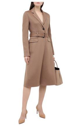 Женское кашемировое пальто PRADA бежевого цвета, арт. P638NH-1XON-F0040-202 | Фото 2
