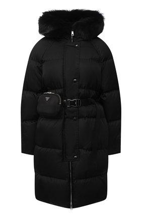 Женский пуховик PRADA черного цвета, арт. 291812-1WQ8-F0002-202 | Фото 1