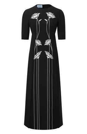 Женское платье из вискозы PRADA черно-белого цвета, арт. P3C66-1X5U-F0967-202 | Фото 1