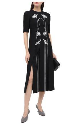 Женское платье из вискозы PRADA черно-белого цвета, арт. P3C66-1X5U-F0967-202 | Фото 2