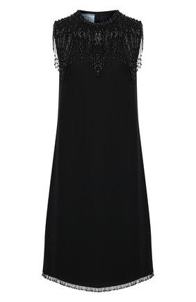 Женское платье из вискозы PRADA черного цвета, арт. P3C70R-1X5X-F0002-202   Фото 1