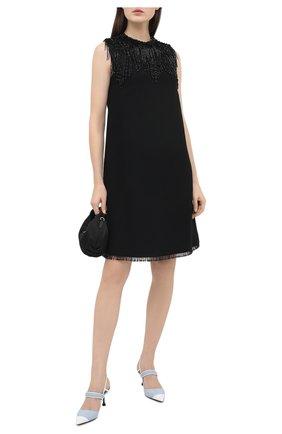 Женское платье из вискозы PRADA черного цвета, арт. P3C70R-1X5X-F0002-202   Фото 2