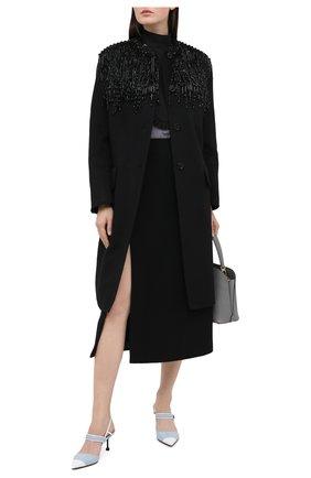 Женское шерстяное пальто PRADA черного цвета, арт. P670NR-1X8G-F0806-202 | Фото 2