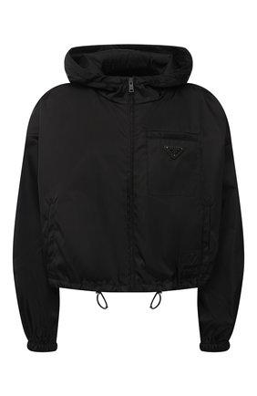 Женская ветровка PRADA черного цвета, арт. 29X900-1YFL-F0002-202   Фото 1
