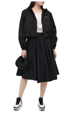Женская ветровка PRADA черного цвета, арт. 29X900-1YFL-F0002-202   Фото 2