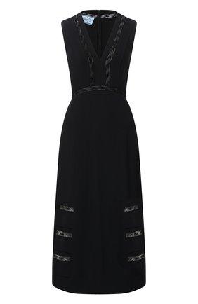Женское платье PRADA черного цвета, арт. P3B30-1W5N-F0806-202 | Фото 1