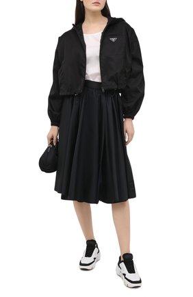 Женская юбка PRADA черного цвета, арт. 21H878-1YFL-F0002-202 | Фото 2