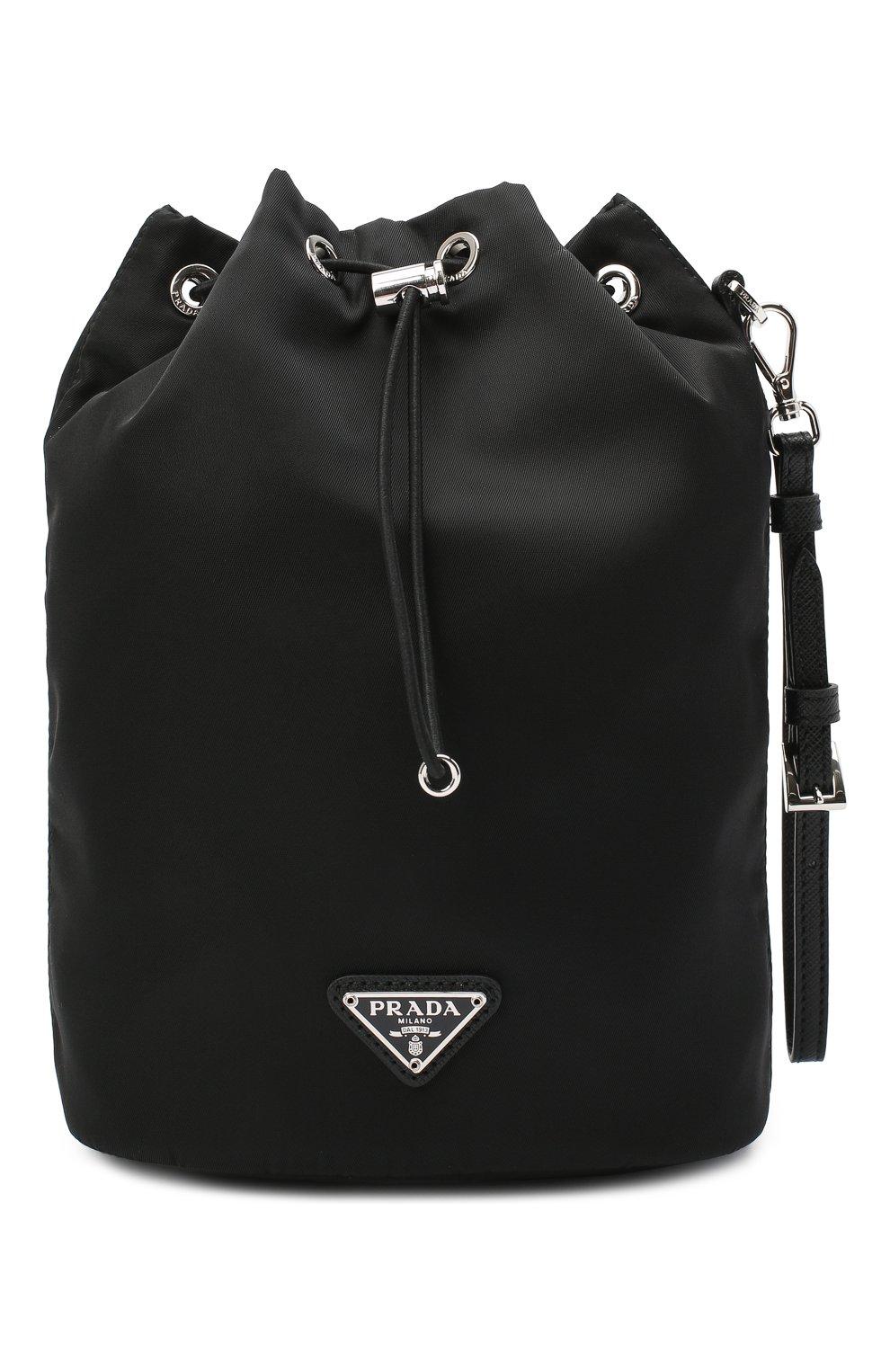 Женская текстильная косметичка PRADA черного цвета, арт. 1NE369-5ECO-F0002 | Фото 1