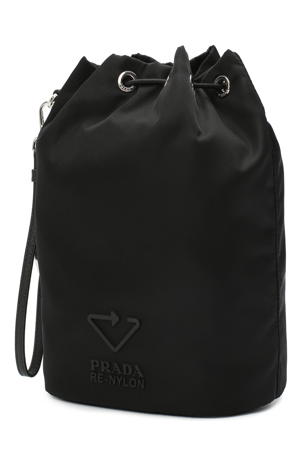 Женская текстильная косметичка PRADA черного цвета, арт. 1NE369-5ECO-F0002 | Фото 2