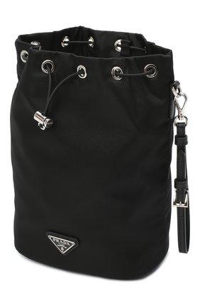 Женская текстильная косметичка PRADA черного цвета, арт. 1NE369-5ECO-F0002 | Фото 3