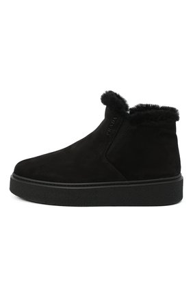 Замшевые ботинки | Фото №2
