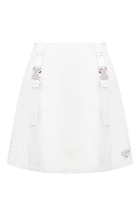 Женская юбка PRADA белого цвета, арт. 21H875-1YFL-F0009-202 | Фото 1