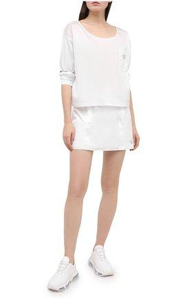 Женская юбка PRADA белого цвета, арт. 21H875-1YFL-F0009-202 | Фото 2