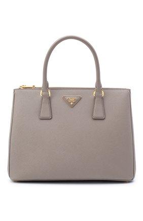 Женская сумка galleria medium PRADA серого цвета, арт. 1BA274-NZV-F0572-DOO | Фото 1