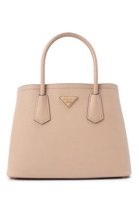 Женская сумка prada double medium PRADA бежевого цвета, арт. 1BG887-2A4A-F0LL5-OOO | Фото 1