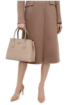Женская сумка prada double medium PRADA бежевого цвета, арт. 1BG887-2A4A-F0LL5-OOO | Фото 2