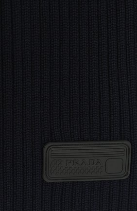 Женский шерстяной шарф PRADA темно-синего цвета, арт. UMS337-U97-F0008-192   Фото 2