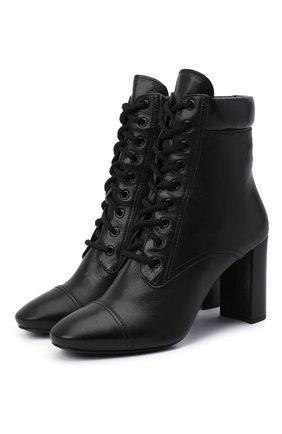 Женские кожаные ботильоны PRADA черного цвета, арт. 1T683L-2A7E-F0002-085 | Фото 1
