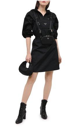 Женские кожаные ботильоны PRADA черного цвета, арт. 1T683L-2A7E-F0002-085 | Фото 2