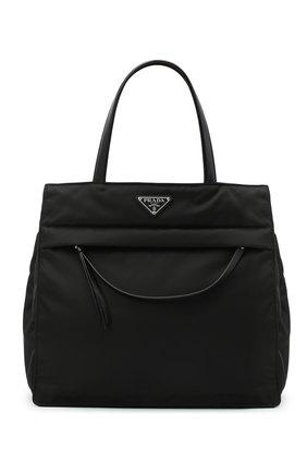 Женская сумка-тоут PRADA черного цвета, арт. 1BG352-2DLN-F0002-OOO | Фото 1