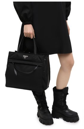 Женская сумка-тоут PRADA черного цвета, арт. 1BG352-2DLN-F0002-OOO | Фото 2