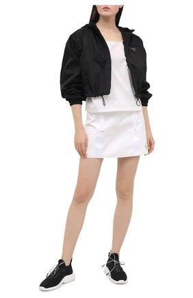 Женские текстильные кроссовки PRADA черного цвета, арт. 1E451M-3KK5-F0967-015 | Фото 2