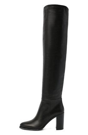 Женские кожаные ботфорты PRADA черного цвета, арт. 1W273M-3LBM-F0002-085 | Фото 2