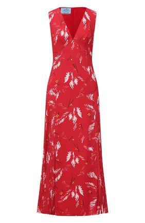 Женское платье PRADA красного цвета, арт. P3B23-1XFF-F0011-202 | Фото 1