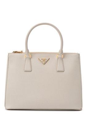 Женская сумка galleria medium PRADA белого цвета, арт. 1BA274-NZV-F0K74-DOO | Фото 1