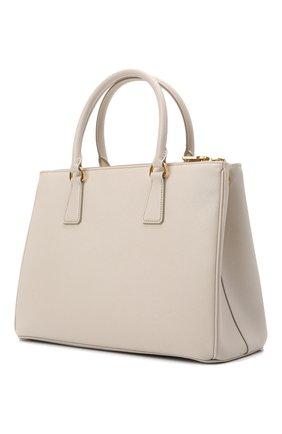Женская сумка galleria medium PRADA белого цвета, арт. 1BA274-NZV-F0K74-DOO | Фото 2