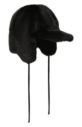 Мужская шапка-ушанка из меха норки FURLAND черного цвета, арт. 0231600110147601003 | Фото 1