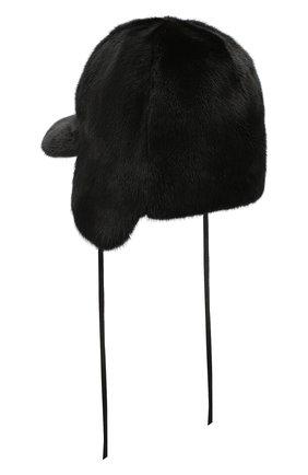 Мужская шапка-ушанка из меха норки FURLAND черного цвета, арт. 0231600110147601003 | Фото 2