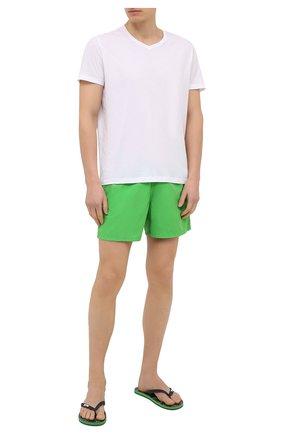 Мужские шлепанцы VILEBREQUIN светло-зеленого цвета, арт. COPH0510/461 | Фото 2