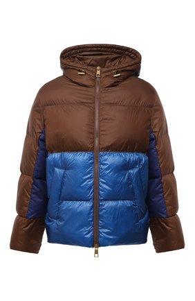 Мужская утепленная куртка NEIL BARRETT коричневого цвета, арт. BSP528V P217C/CG | Фото 1