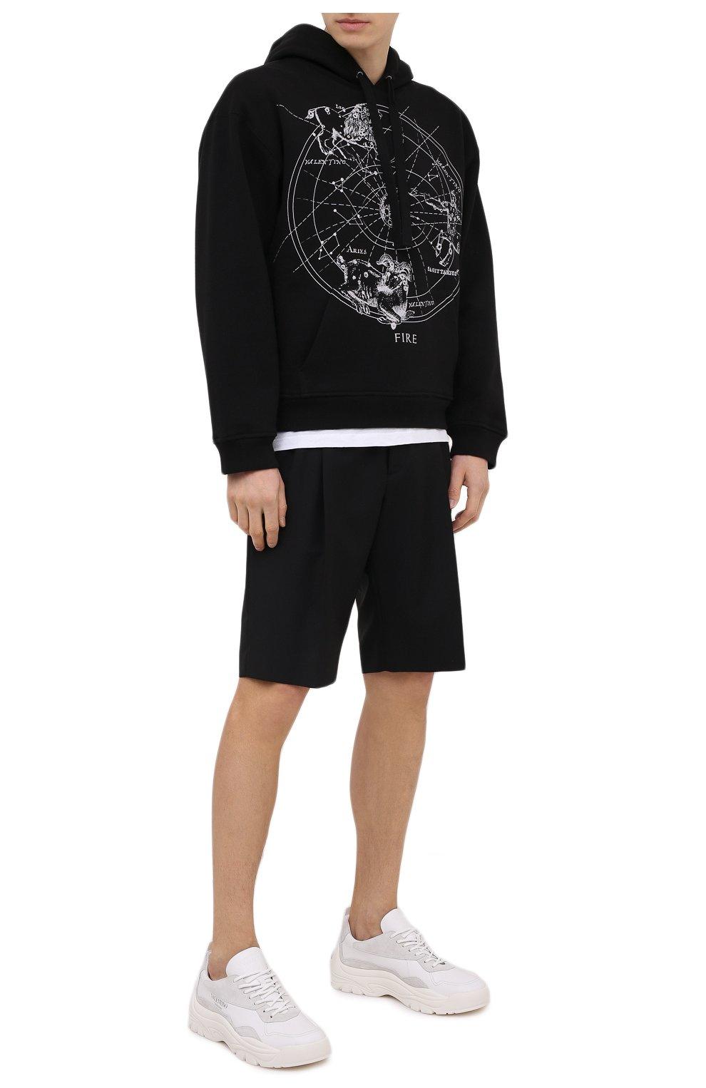 Мужские кожаные кроссовки gumboy VALENTINO белого цвета, арт. VY2S0B17/VRN | Фото 2 (Материал внутренний: Текстиль; Подошва: Массивная)