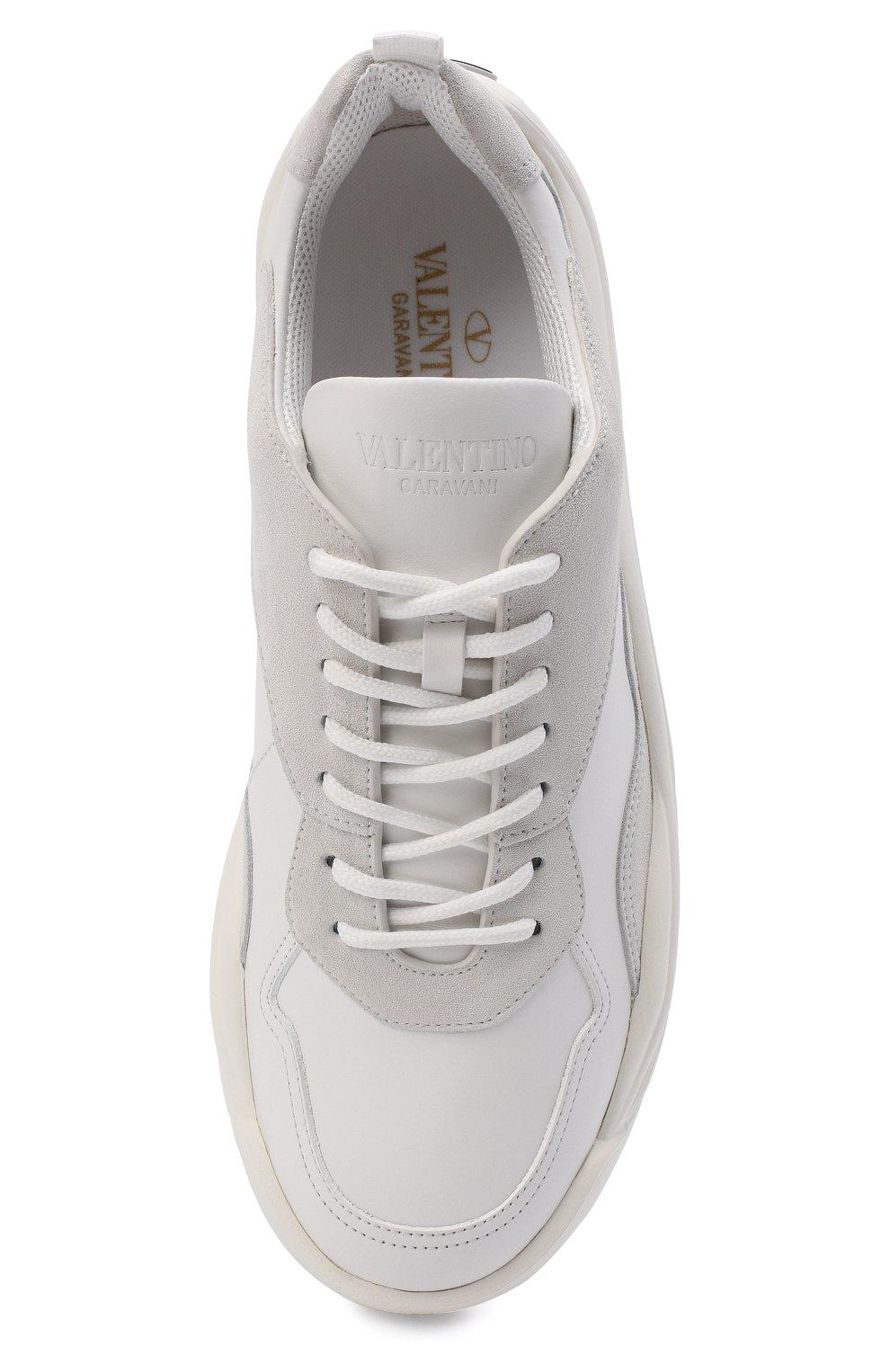 Мужские кожаные кроссовки gumboy VALENTINO белого цвета, арт. VY2S0B17/VRN | Фото 5 (Материал внутренний: Текстиль; Подошва: Массивная)