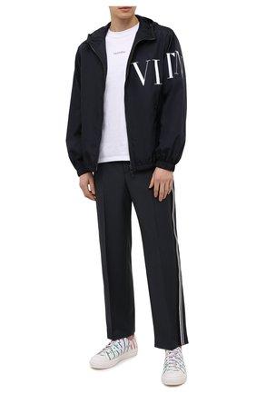 Мужская куртка VALENTINO темно-синего цвета, арт. VV3CI36871M   Фото 2