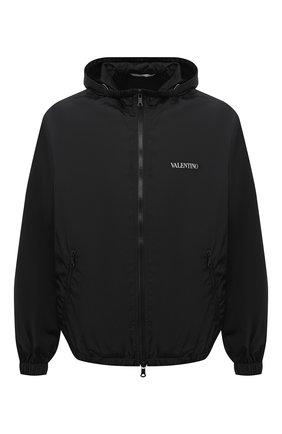 Мужская куртка VALENTINO черного цвета, арт. VV3CI3685AT | Фото 1 (Стили: Кэжуэл; Длина (верхняя одежда): Короткие; Материал подклада: Синтетический материал; Рукава: Длинные; Кросс-КТ: Куртка, Ветровка; Принт: С принтом; Материал внешний: Синтетический материал)