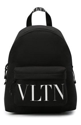 Мужской текстильный рюкзак vltn valentino garavani VALENTINO черно-белого цвета, арт. VY2B0993/YHS | Фото 1
