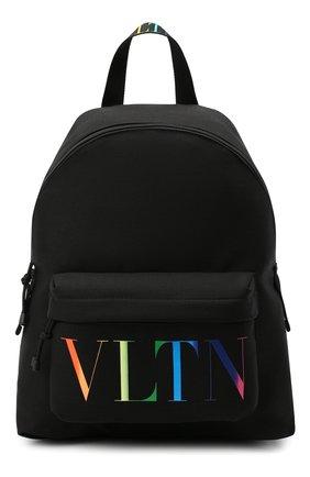Мужской текстильный рюкзак vltn valentino garavani VALENTINO черного цвета, арт. VY2B0993/KBP | Фото 1