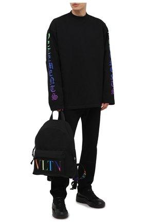 Мужской текстильный рюкзак vltn valentino garavani VALENTINO черного цвета, арт. VY2B0993/KBP | Фото 2