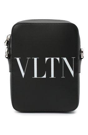 Мужская кожаная сумка vltn valentino garavani VALENTINO черно-белого цвета, арт. VY2B0943/WJW | Фото 1